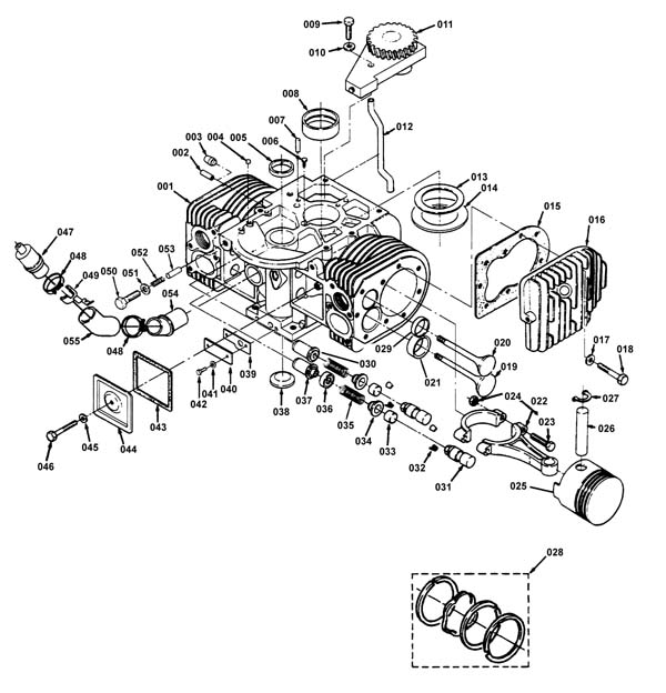 Cylinder Block Diagram And Parts List For Onan Allproductsparts